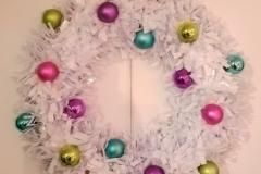 Wreath 20in Xmas White