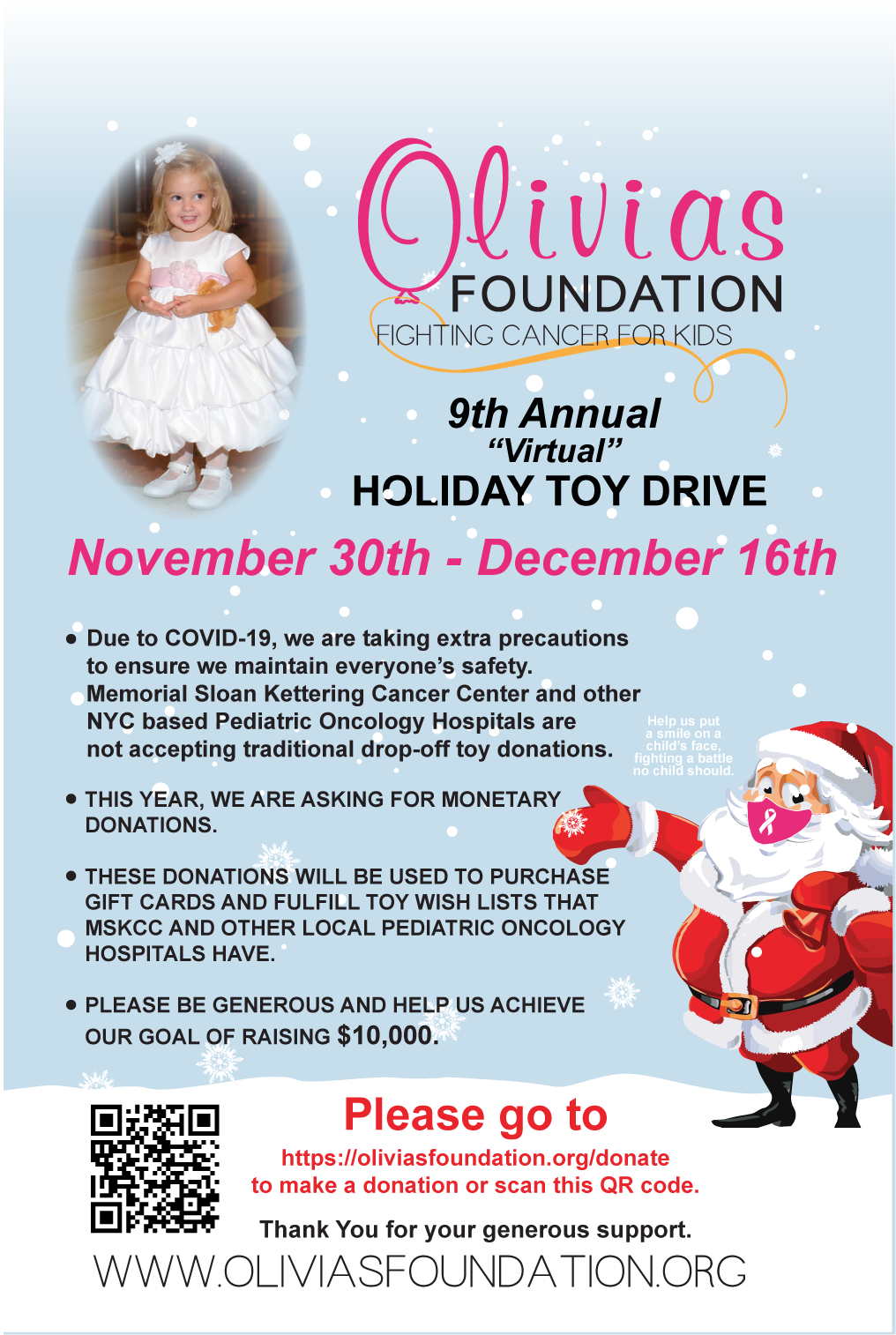 Olivias Foundation Toy Drive Link